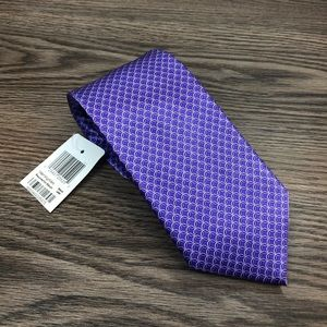 Bloomingdale's NWT Purple & White Check Tie